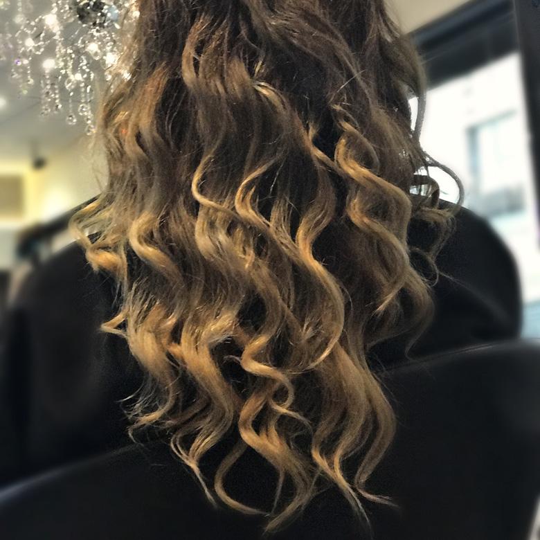 Peinado con ondas peluquería Torrelodones